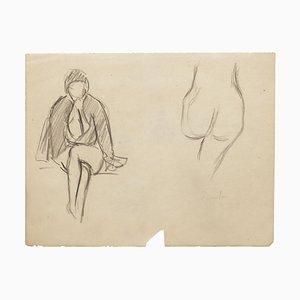 Nude Studies - Original Drawing - 20th Century 20th Century