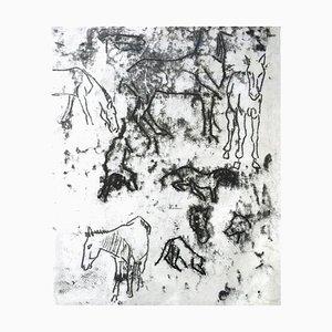 Pferdekunde - Original Monotypie von Paul Gauguin - 1901/2 1901/2