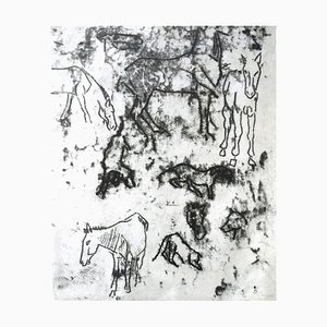 Studies of Horses - Original Monotype by Paul Gauguin - 1901/2 1901/2