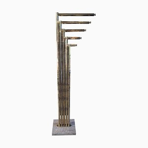 Vintage Brass Coat Stand by Rome Rega Attributed, 1970