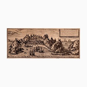 Aden - Original Etching by Braun-Hogenberg - Late 16th Century Late 16th Century