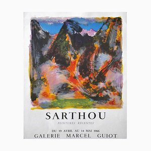 Sarthou's Exhibition - Original Offset and Lithograph Poster - 1966 1966