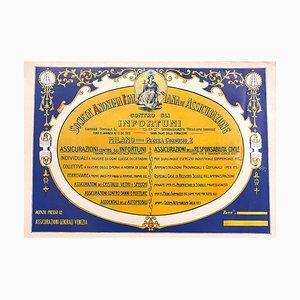 Vintage Versicherungsposter - Offsetdruck auf Karton - 20. Jahrhundert 20. Jahrhundert