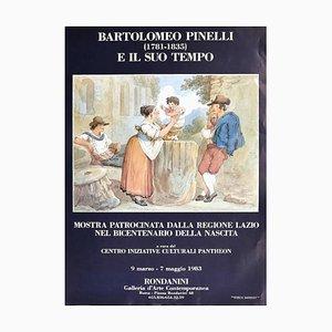 Bartolomeo Pinelli's Exhibition - Original Offset Poster - 1983 1983