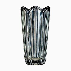 Flower Glass Vase, Italian Manufacture, 1970s