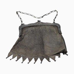 Gestrickte Silber Handtasche, Frühes 20. Jahrhundert