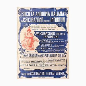 Assicurazioni Generali - Vintage Offset Poster on Cardboard - 20th Century 20th Century