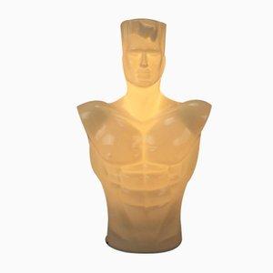 Postmodern Acrylic Man Torso Lamp, 1980s