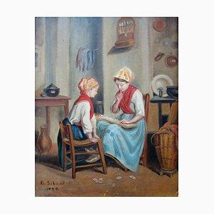 Flämisch Schul Fortune Teller Gemälde von Georges Sibert, 1930er