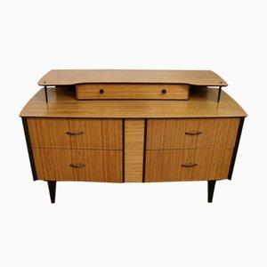 Mid-Century Zebra Wood Side Cabinet, 1960s
