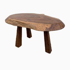 Mid-Century Brutalist Wooden Coffee Table