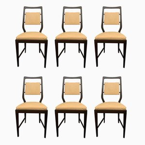 Rosewood Dining Chairs from La Permanente Mobili Cantù, 1960s, Set of 6