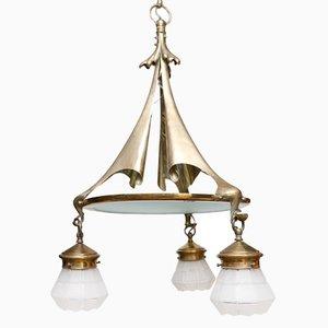 Lámpara de araña antigua de William Benson