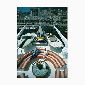 Transport Buffs Oversize C Print Framed in White by Slim Aarons