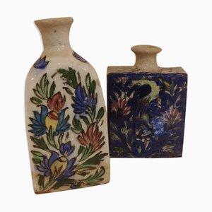 Hungarian Ceramic Bottles, Set of 2