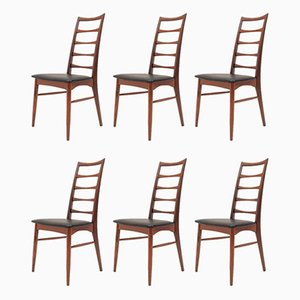 Model Lis Dining Chairs by Niels Koefoed for Koefoeds Møbelfabrik, 1960s, Set of 6