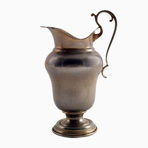 Antiker Neapolitaner Krug aus Zinn & Silber