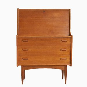 Vintage Dutch Teak Secretary