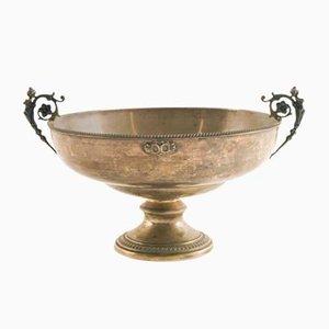 Centrotavola antico in argento e peltro