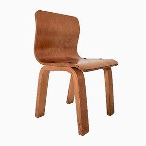 Vintage Scandinavian Modern Birch Plywood Children Chair, 1950s
