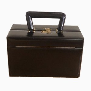Traveling Leather Vanity Case from Asprey, 1960s