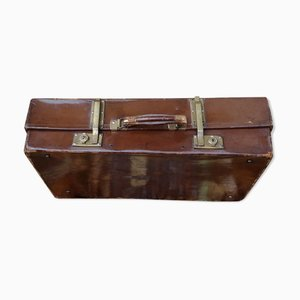 Antique English Leather Trunk