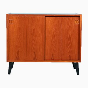 Vintage Teak Cupboard with Sliding Doors from Sejling Skabe, 1960s