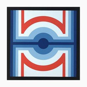 Siebdruck von Jo Niemeyer, 1974