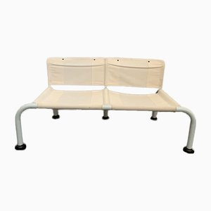 Tubular Metal & Canvas Bench, 1970s