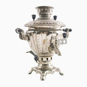 Samovar in ottone placcato in cromo di 3WB, 1969