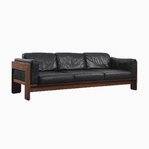 Rosewood & Black Leather Bastiano Sofa by Tobia & Afra Scarpa for Gavina, 1962