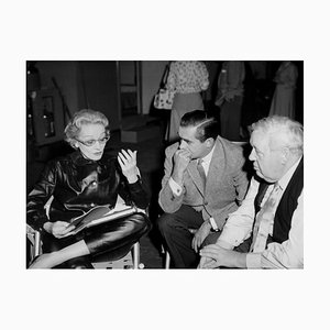 Dietrich, Power & Laughton in Rehearsals Archival Pigment Print Framed in White by Everett Collection