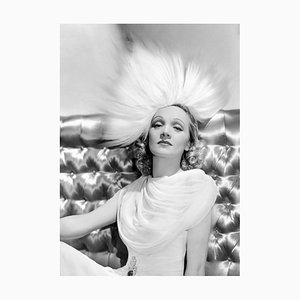 Dietrich Modelling Archival Pigment Print Framed in White by Everett Collection