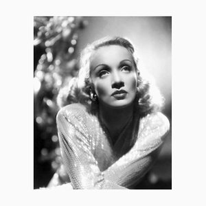 Starry Eyed Dietrich Archival Pigment Print Framed in Black by Everett Collection