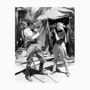 Rathbone & Dietrich Archival Pigment Print Framed in White by Everett Collection
