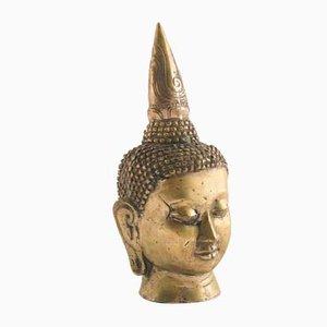 Buddha in ottone dorato, anni '40