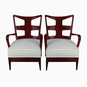 Vintage Lounge Chairs by Osvaldo Borsani for Arredamenti Borsani Varedo, Set of 2