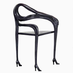 Poltrona scultorea Dalì Leda nera edizione limitata di BD Barcelona