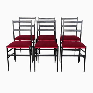 Superleggera Dining Chairs by Gio Ponti for Cassina, 1950s, Set of 6