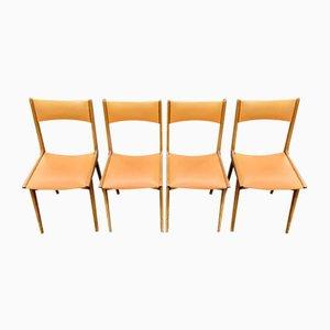 Esszimmerstühle von Carlo de Carli, 1950er, 4er Set