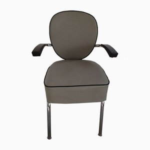 Mid-Century Hairdresser's Chair with Bakelite Armrests
