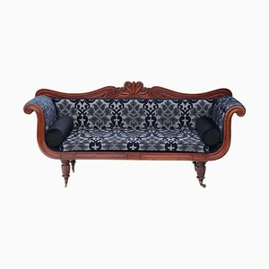 William IV Regency Mahogany Sofa with Scroll Arms