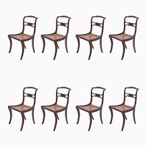 Regency Faux Rosewood Dining Chairs, Set of 8