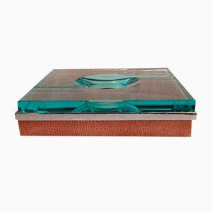 Vintage Aschenbecher aus Kristallglas von Fontana Arte
