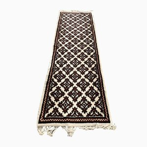 Vintage Hallway Carpet with Oriental Motifs