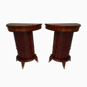 Rosewood Wall Console Tables, 1940s, Set of 2