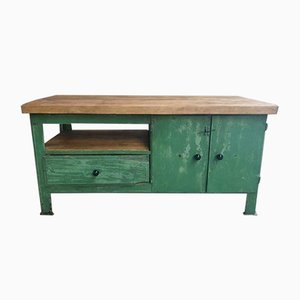 Industrial Green Worktable, 1960s