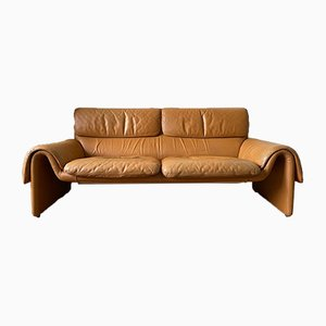 Cognac Leather DS-2011 Sofa from de Sede, 1980s