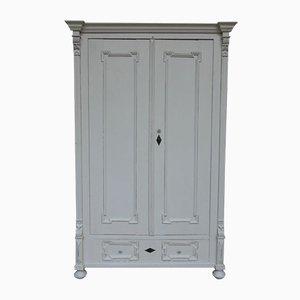 Small Antique White Pine Cabinet