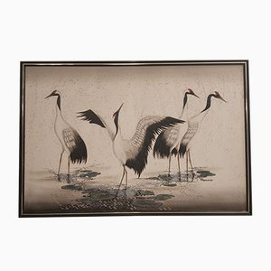 Vintage Decorative Painting of Birds